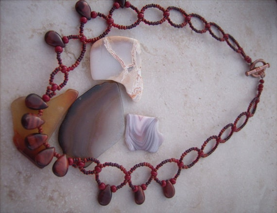 """Red Jasper Drop Necklace Size 17"""" Necklace Root Chakra Energy chakra Jewelry stone necklace"""
