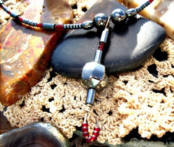 Hematite Necklace Base chakra Jewelry Simplistic dainty necklace