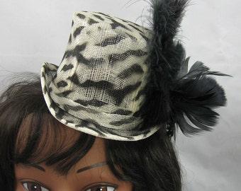 Animal Print Mini Top Hat Kentucky Derby Wedding Hat