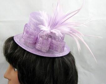 Lavender Mini Top Hat Fascinator Kentucky Derby Wedding Hat
