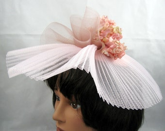 Pink Crin Kentucky Derby Wedding Hat