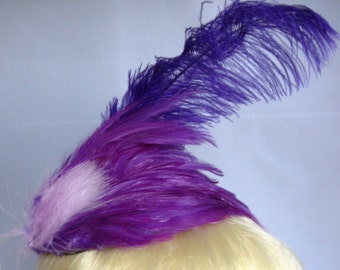 Shades of Purple Feather Fascinator