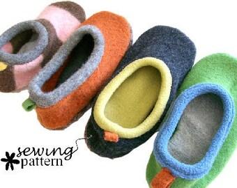 Wool Sweater Slipper PDF Pattern - INSTANT DOWNLOAD