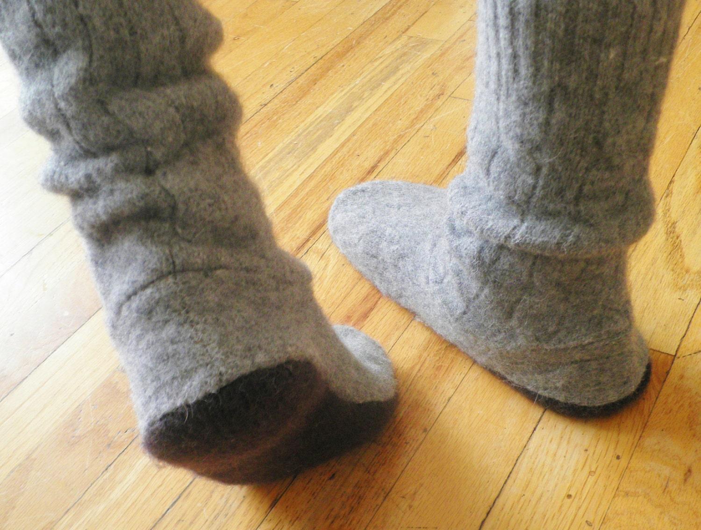 sweater slipper boots and boot socks pdf pattern