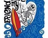 El Dennis Wilson Print (Day of the Dead Rock Stars) series