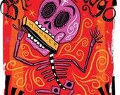 SALE El Paul Butterfield Print (Day of the Dead Rock Stars)