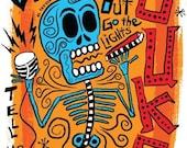SALE El Little Walter Print (Day of the Dead Rock Stars)