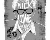 Nick Lowe Screenprinted Poster