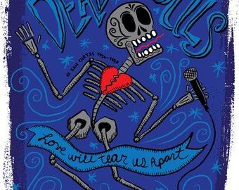 El Ian Curtis Print (Day of the Dead Rock Stars)