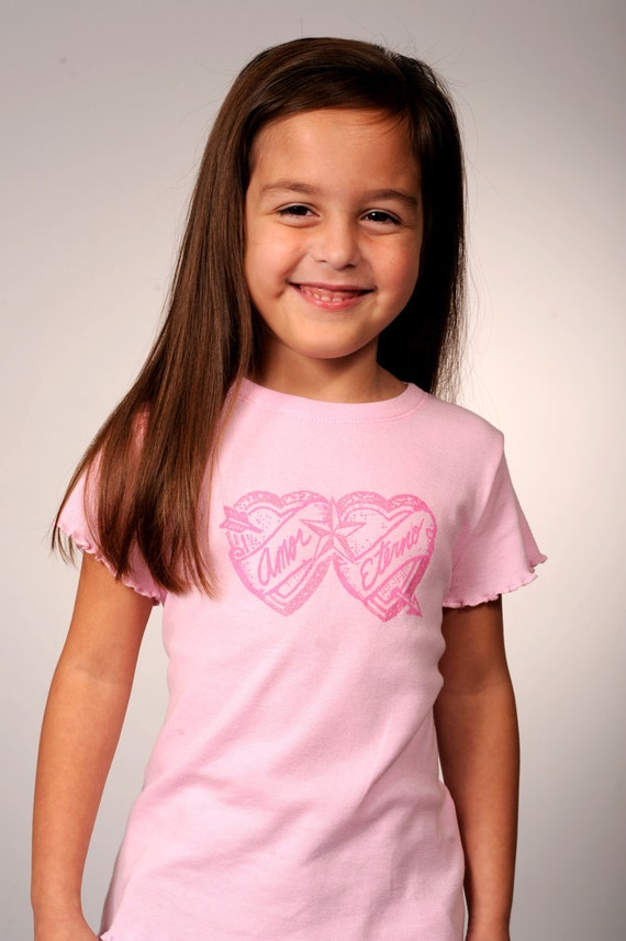 Amor Eterno Star and Hearts Little Girls' T-shirt - 4T and 5/6