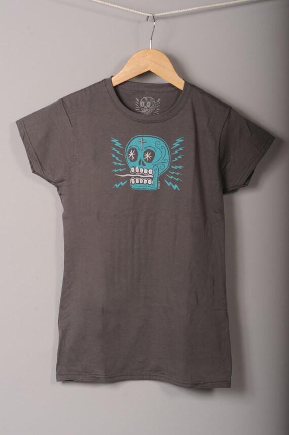 CLEARANCE Women's Electric Calavera t-shirt