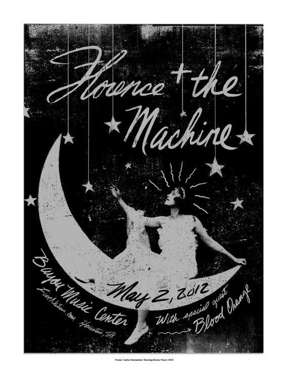 Florence and The Machine Screenprinted Poster LAST FEW LEFT