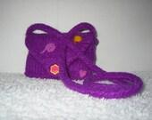 Little Girl Felted Purse - Purple