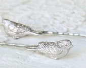 Bobby Hair Pins Beloved Birds in Antique Pewter