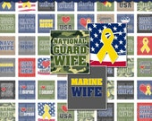 Support Our Troops Digital Collage Sheet (No. 394) - Scrabble Size Tiles 0.75 Inch x 0.83 Inch