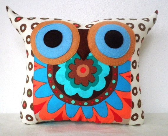 NEW/ Polyfil Stuffed Darling Owl Pillow