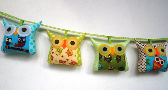 Set of four Mobile tiny owl decoration/collection-/Owl family set/Ready to ship