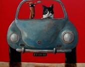 "013 Cat and Dog – print 14x14cm/5.5x5.5"""