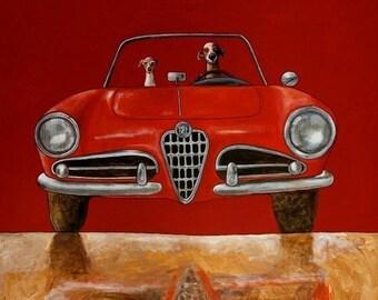 """023 Alfa Romeo Guilia Spider – print 21x21cm/8.5x8.5"""""""