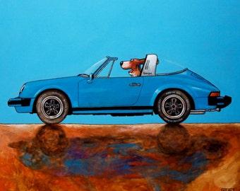 "140 Porsche Targa – print 27x27cm/10.5x10.5"""