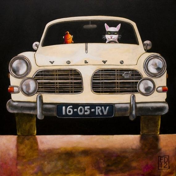 """169 Volvo Amazon – print 14x14cm/5.5x5.5"""""""