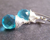 Titanium Cassonade Earrings - Turquoise