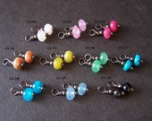 interchangeable gemstone dangle set for pure titanium or niobium drop earrings- you pick 3 - handmade by variya on etsy