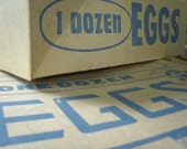 Paper Dozen - vintage egg carton