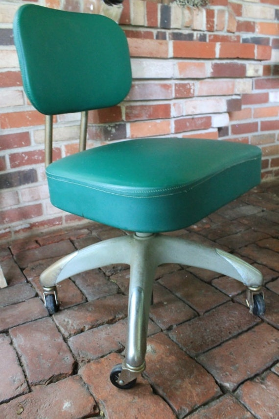 Reserved for Liz - Green Industrial Rolling Office Chair