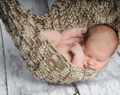 Baby Hammock or Swaddle Photo Prop  ---  Brown and Cream   ---  Ready to Ship -- BLACK FRIDAY Sale