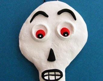 Halloween Skeleton Key Folk Art Ornament