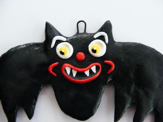 Halloween Vampire Bat Folk Art Ornament