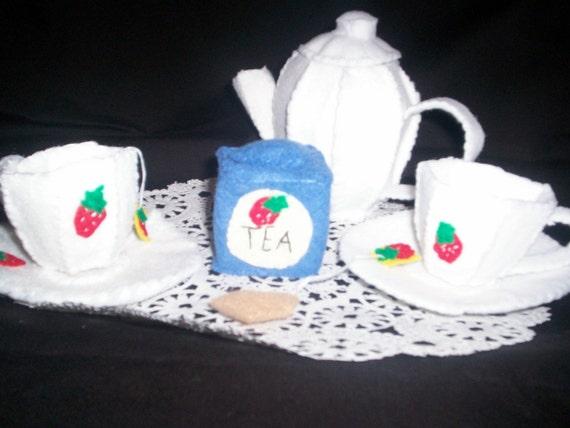 I'm A  Little Tea Pot Felt Tea Party Set... You Pick the Color