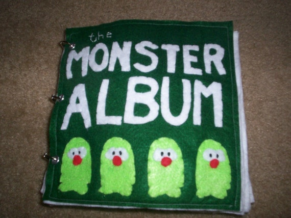 The Monster Album Quiet Book... Many Activities ... Durable