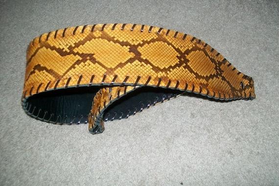 Diamond Back Python Leather Rifle Sling
