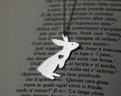 Lucky Bunny Silver Necklace with cut-out Heart