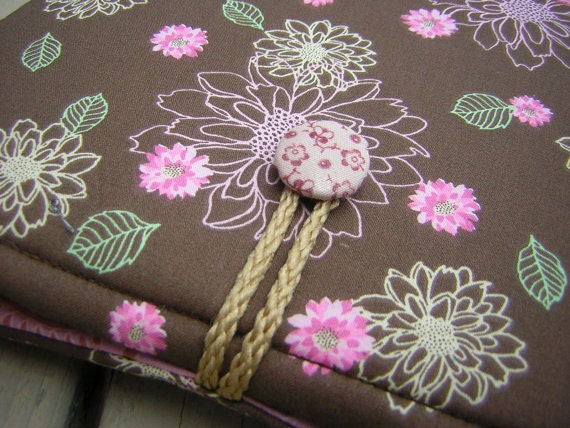 ipad, ipad case,  ipad 2 case, ipad sleeve, ipad 2 cover, cases for ipad, Vintage Floral Pink Brown