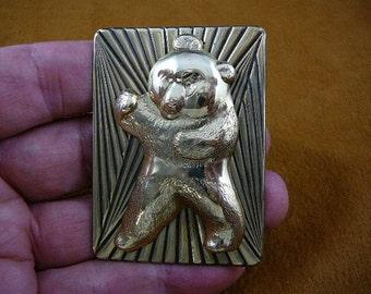 Panda bear love pandas bears brass pin pendant brooch B-Bear-2