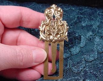 Fleur de Lis flower scrolled brass BOOKMARK book mark books CBBS-42