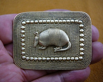 Armadillo desert Dillo rectangle armadillos brass pin pendant brooch B-ARMAD-6