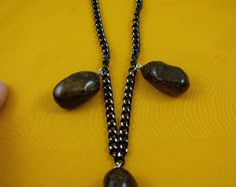Real MOOSE POOP 3 doo doo nugget NECKLACE jewelry WEIRD PP40-1A