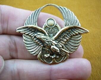 Eagle flying bald eagles Victorian brass brooch pin B-Bird-3