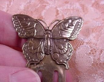 Butterfly Monarch butterflies BOOKMARK brass book mark books CBBA-13