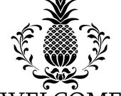 welcome pineapple vinyl decal for tile or wall