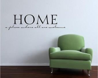 Home vinyl wall decal