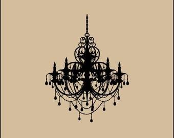 Chandelier Wall Decal Elegant