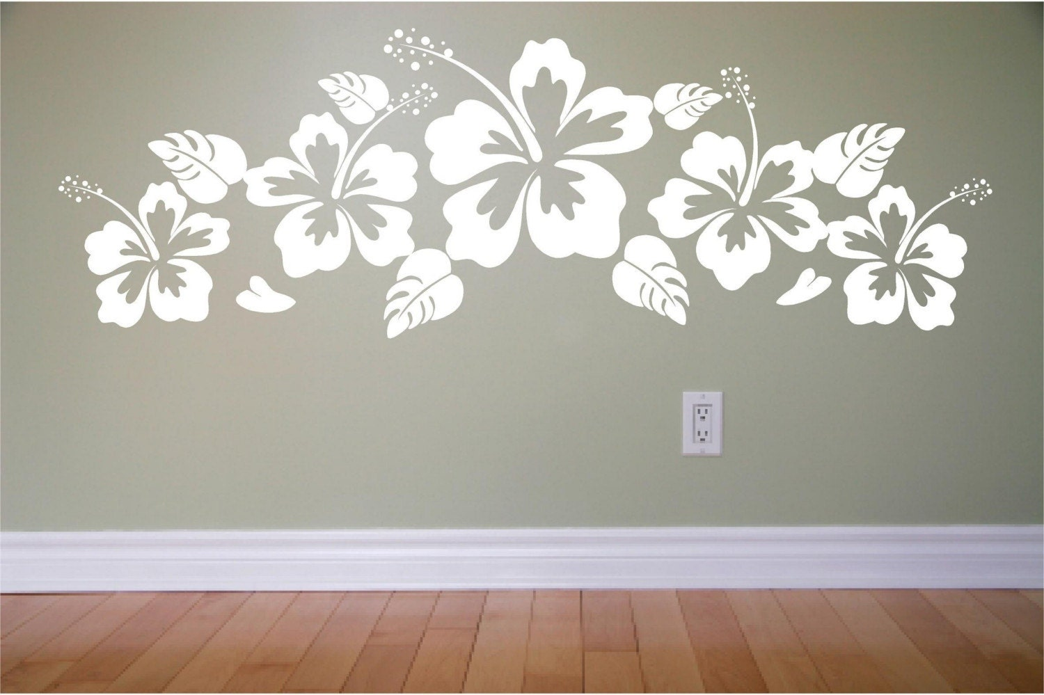 Hawaiian wall stencils choice image home wall decoration ideas hawaiian wall related keywords suggestions hawaiian wall long hawaii flowers habiscus vinyl wall decal extra by amipublicfo Images