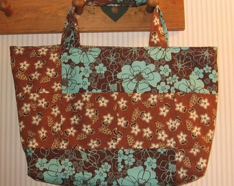 Retro Patchwork Crafter's Tote