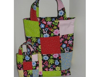 The Age of Aquarius Matching Mother/Daughter Patchwork Totes
