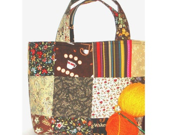 Espresso Crafter's Patchwork Tote